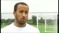 Emergence of Andros Townsend / Hodgson row Andros Townsend interview SOT **Andros Townsend interview overlaid SOT** Townsend posing for photograph...
