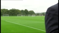 Emergence of Andros Townsend / Hodgson row Enfield Andros Townsend set up shot with reporter / interview SOT