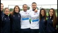 Emergence of Andros Townsend / Hodgson row ENGLAND London Enfield EXT Andros Townsend posing with others to promote 'CoppaFeel' charity Townsend and...
