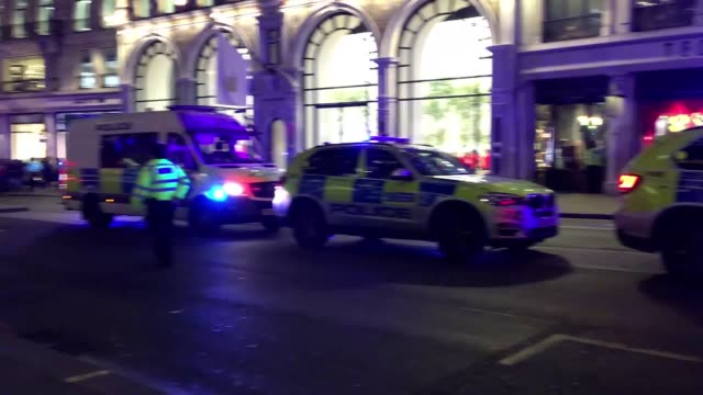 Emergency services respond to a 'customer incident' in the Oxford Circus area