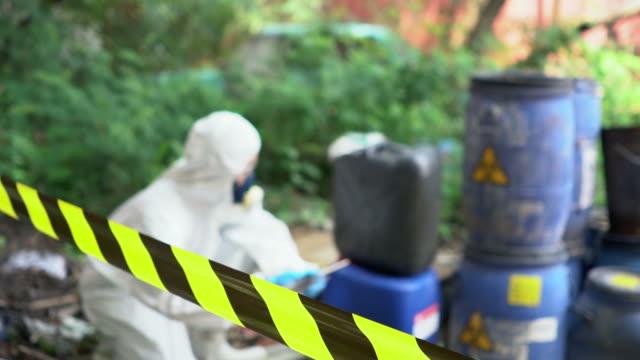 Emergency Team checking Biohazard Leak