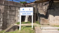 Emergency weather shelter at Battery Brumby at old Fort Screven on Tybee Island, Georgia