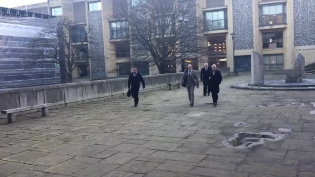 Emile Cilliers leaves Winchester Crown Court as he faces a retrial on charges of attempting to murder his wife by tampering with her parachute as the...
