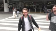 INTERVIEW Emile Hirsch on doing 'Naked and Afraid' at Los Angeles International Airport at Celebrity Sightings in Los Angeles on August 25 2017 in...