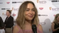 INTERVIEW Emilia Clarke on why it was important for her to support BAFTA tea party on her perfect cup of tea on the nomination on how she feels about...