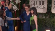 Emily Deschanel and Zooey Deschanel at 69th Annual Golden Globe Awards Arrivals on January 15 2012 in Beverly Hills California
