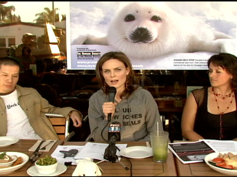 Emily Deschanel on the age of the seals being killed on requesting that people boycott Canadian seafood in protest at the Celebrity Save The Seal Day...