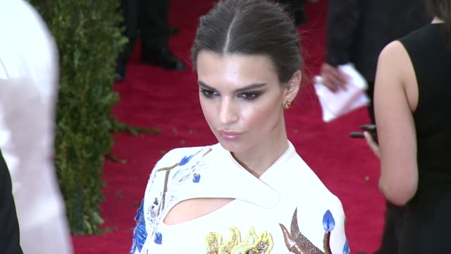 Emily Ratajkowski at 'China Through The Looking Glass' Costume Institute Benefit Gala Arrivals at Metropolitan Museum of Art on May 04 2015 in New...