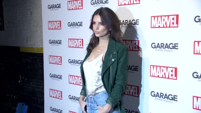 Emily Ratajkowski at Garage Magazine and Marvel Turn Supermodels Into Super Heroes on February 11 2016 in New York City