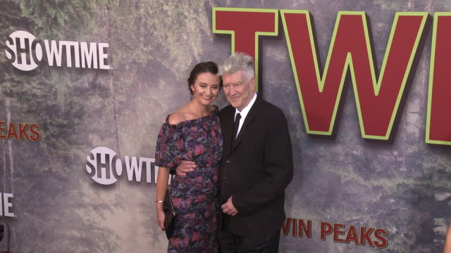 Emily Stofle and David Lynch at The World Premiere of the new Showtime LimitedEvent Series 'Twin Peaks' at Ace Hotel on May 19 2017 in Los Angeles...