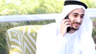 Emirati Arab talking on the phone - 4k