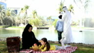 Emirati family at picnic