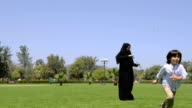 Emirati family at the park