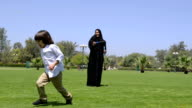 PANNING: Emirati family at the park