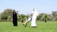 PANNING: Emirati family in the park