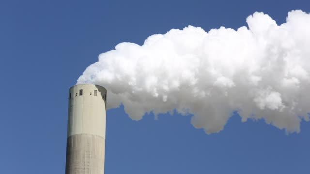 Emissions from a coal fired power plant in Amsterdam, Holland.