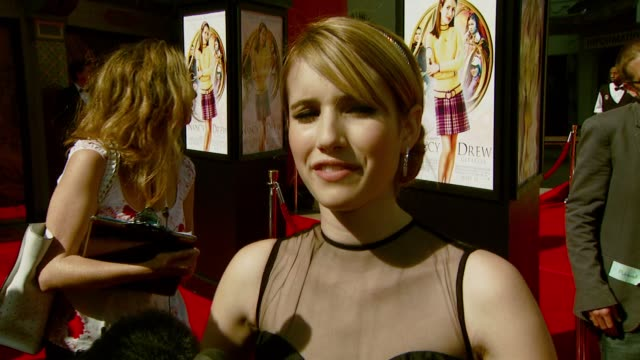Emma Roberts on the premiere of 'Nancy Drew' the movie appealing to a wide audience the pressure of being the star of the film and relating to her...