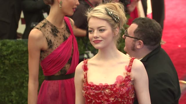 Emma Stone at 'Schiaparelli And Prada Impossible Conversations' Costume Institute Gala at Metropolitan Museum of Art on May 07 2012 in New York New...