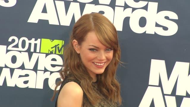 Emma Stone at the 2011 MTV Movie Awards at Los Angeles CA