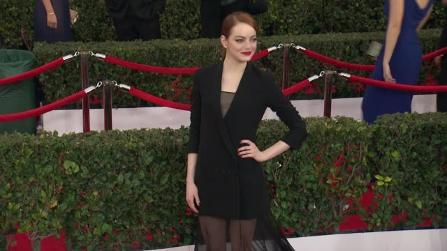 Emma Stone at the 21st Annual Screen Actors Guild Awards Arrivals at The Shrine Auditorium on January 25 2015 in Los Angeles California