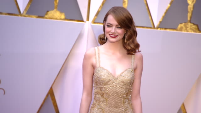 Emma Stone at the 89th Annual Academy Awards Arrivals at Hollywood Highland Center on February 26 2017 in Hollywood California 4K