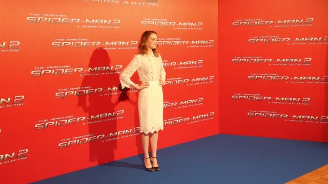 Emma Stone at 'The Amazing SpiderMan 2 Rise Of Electro' Rome Photocall on April 14 2014 in Rome Italy