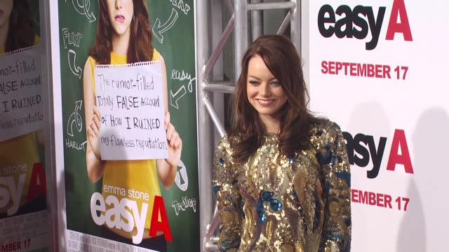 Emma Stone at the 'Easy A' Premiere at Los Angeles CA
