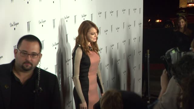 Emma Stone at W Magazine In Collaboration With Dom Perignon Hosts Celebration For Its Best Performances Issue And The Golden Globes at Chateau...