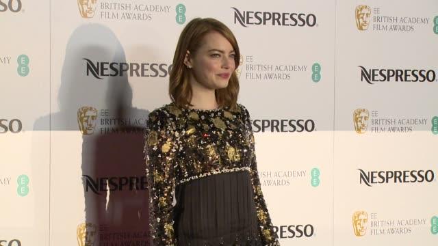 Emma Stone Damien Chazelle at Kensington Palace on February 11 2017 in London England