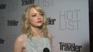 Emma Stone on the event at the Conde Nast Traveler Hot List Party at West Hollywood CA