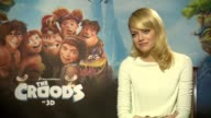 INTERVIEW Emma Stone on when she first saw her character the emotional connection she has with the movie and being a red head at the Croods...