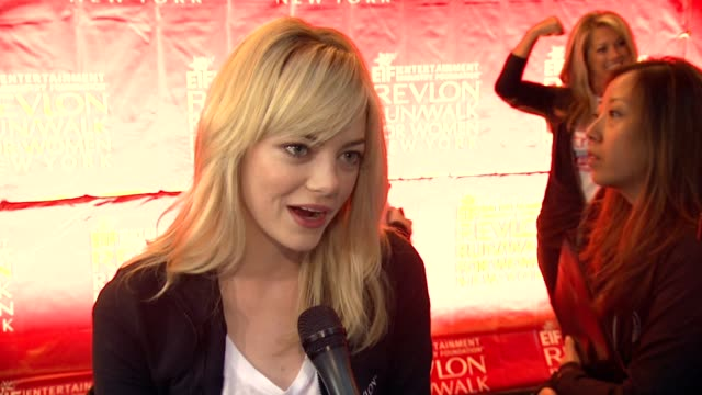 INTERVIEW Emma Stone talks about being inspired to participate in this event on the power of seeing this many people together on the different...