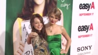 Emma Stone Taylor Swift at the 'Easy A' Premiere at Los Angeles CA