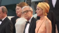 Emma Stone Woody Allen Parker Posey at 'Irrational Man' Red Carpet at Palais des Festivals on May 15 2015 in Cannes France