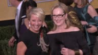 Emma Thompson Meryl Streep at 20th Annual Screen Actors Guild Awards Arrivals at The Shrine Auditorium on in Los Angeles California