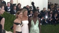 Emma Watson Margot Robbie and Lupita Nyong'o at Manus x Machina Fashion in an Age of Technology Costume Institute Benefit Gala Arrivals at...