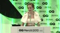 SPEECH Emma Watson on receiving an award from GQ at the GQ Men of the Year Awards in London England UK on 9/3/13
