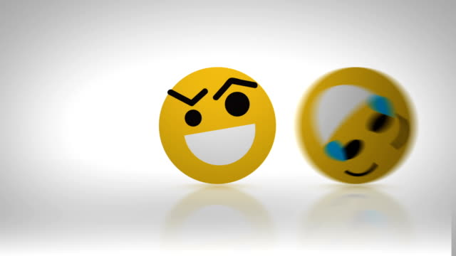 Emoticons faces passing