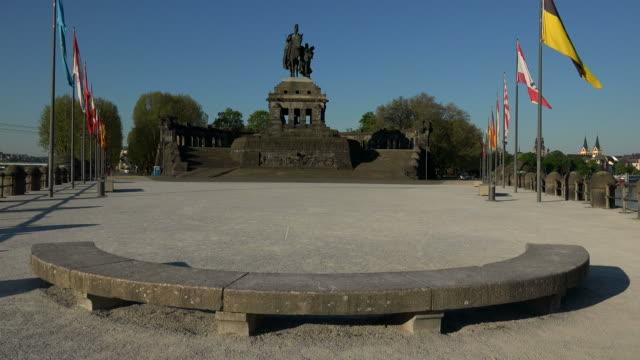 Emperor William I Memorial at Deutsches Eck, German Corner, Koblenz, Rhineland-Palatinate, Germany