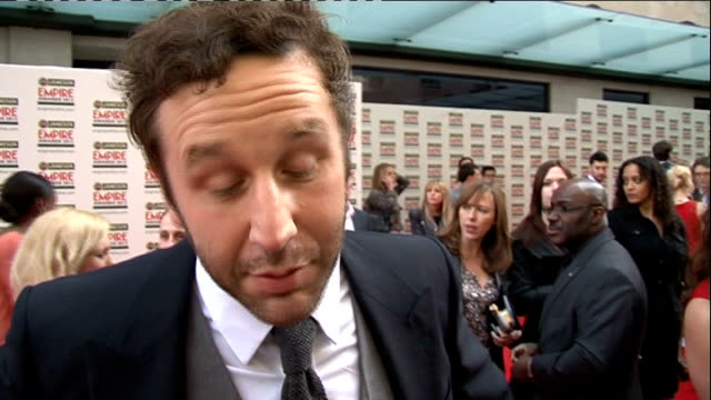 red carpet arrivals / winners room Berenice Marlohe interview SOT / Chris O'Dowd interview SOT / Jodie Whittaker interview SOT / Mark Strong speaking...