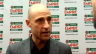 Empire Film Awards in London Strong interview SOT On 'Robin Hood' and the old school film making of it / On the delay in the 'Robin Hood' script / On...