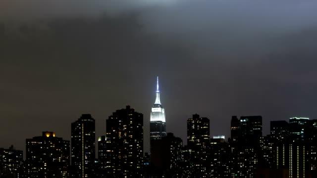 Skyline von Manhattan Nächte