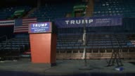 WGN Empty Arena Before Donald Trump Campaign Rally at the Prairie Capital Convention Center in Springfield Illinois on November 9 2015