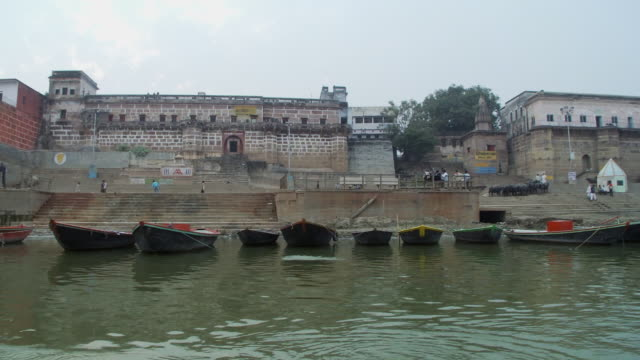 Empty boats on Ganges
