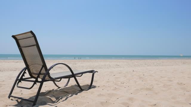 Empty chair on the beach