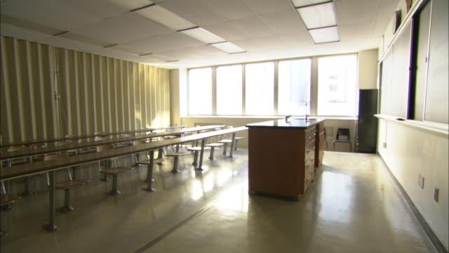 WS Empty classroom, Brooklyn, New York City, USA
