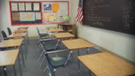 MS, PAN, Empty classroom, Richmond, Virginia, USA
