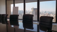 MS, Empty conference room, New York City, New York, USA