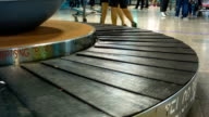 Empty conveyor belt in airport