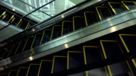 Empty escalator moving